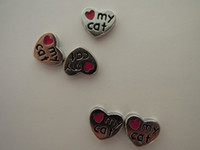 Wholesale Charms For Locket I Love My Cat Minimum Order Can Mixed Wiith Other Design