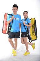 Wholesale free ship high quality original VS men women badminton clothes shirt shorts badminton jersey badminton sportswear