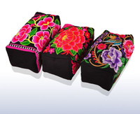 Wholesale 2014 New Chinese National Style Hmong embroidery bag three rows of zipper pouches bag