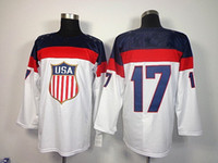 Cheap 2014 Sochi Olympic Team USA #17 Ryan Kesler White American Premier Hockey Jerseys Ice Winter Home Away Jersey Stitched Authentic Mix Order