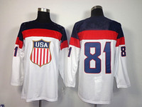 Ice Hockey american olympic team - Sochi Winter Olympic Team USA Phil Kessel White American Premier Hockey Jerseys Ice Winter Home Away Jersey Stitched Authentic Mix Order