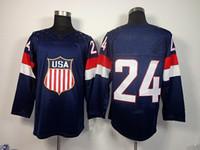 Sochi Winter Olympic USA #24 Ryan Callahan Blue American Pre...
