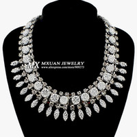 Chokers fashion jewelry usa - European and USA Fashion Star High Quality Resin Droplets Sparkling Rhinestone Pendant Necklace Jewelry Hot NK231