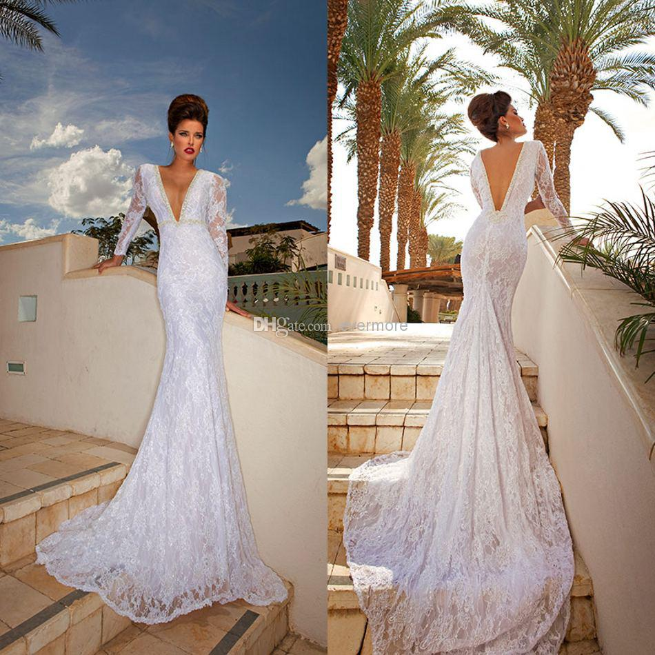 No Back Lace Wedding Gown