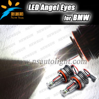 Wholesale Error Free W H8 LED Angel Eye Halo Bulb Light for BMW E87 E82 E60 E70 E71 E92 E93 E90 X5 CREE R3 led blue red marker light