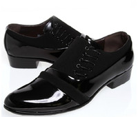Wholesale POpular new flank lace up black pu leather shoes men s business casual shoes groom wedding shoes huihui2014