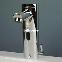 automatic sink faucets - Hands Free Automatic Sensor Mixer Sink Tap with Hot Cold Handle Mixer Faucet Chrome Ys7090