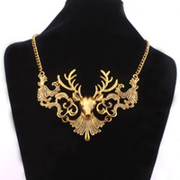 Chokers statement necklaces - Fashion Deer Choker Necklaces For Women Statement Necklace Bubble Chunky Jewelry Animal Necklace