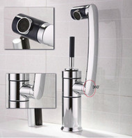 Wholesale Sanitary waresKitchen bathroom sink basin mixer tap chrome swivel with long arm rotate brass Faucet ck003