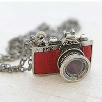 Wholesale Vintage Camera Necklace Charming Pendant Necklaces For Women Sweater Chains Cheap Jewelry