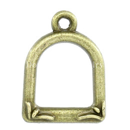 Wholesale Charm Pendants Window Antique Bronze x12 mm K02596