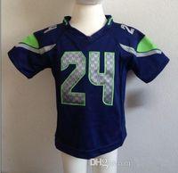 toddler jerseys - Jersey Navy Blue Youth Football Jerseys Cheap Infants American Football Games Uniform Toddler Sports Jerseys
