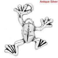 Charm Pendants Frog Animal Antique Silver 25x19mm, 30PCs (K03...