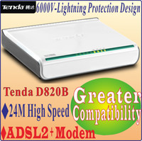2pcs adsl modem speed - Chinese Firmware Tenda D820B High Speed M DSL Internet Modem ADSL with Port Switch V Lightning Protection No Color Package Box