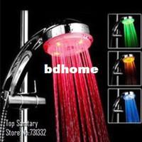 Yes bathroom douche - 7 color auto change Romantic LED Lighting Hand shower Bathroom Rain Shower Head massager chuveiro ducha douche banheiro