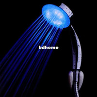 other other Bathroom Faucet Accessories LED Temperature Control Romantic 7 Colors Light Bathroom Hand Shower Head Free Shipping