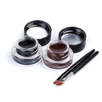 Wholesale Eyeliner Gel Long Wear Gel Eyeliner Brown With Brush color hours Waterproof Sweat Not Blooming Smudge proof M1007