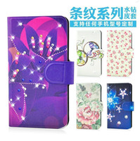 Wholesale For TCL S900 Colorful Diamond Flower Butterfly Design Magnetic leather flip PU case cover