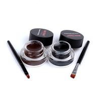Wholesale Eyeliner Gel Long Wear Gel Eyeliner Brown With Brush set color Waterproof Sweat Not Blooming Smudge proof M1007