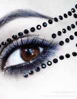 Wholesale Fashion Eye Rock Eyeshadow Sticker Eyeliner Tattoo Eyerock Crystal Eye Shadow Stickers Rhinestone