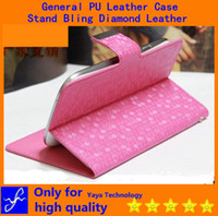 rhinestone cell phone cases - General PU Diamond Leather rhinestone cell phone cases Bling Bracket Flip Wallet Card Slots function for iphone Samsung Alcatel O2 Dell G G