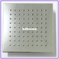 Cheap Retail- Luxury Square Stell OverHead Shower, Shower head, Shower, 8 Inch, Chrome Finish, Free Shipping XS8136