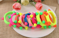 Wholesale Small candy color neon headband accessories hair accessory rubber band rivet hair accessory