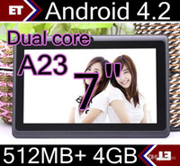 Wholesale SGpost cheap inch Dual camera core Android Tablet PC MB GB GHz Allwinner A23