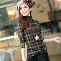 boat t shirts - Ladies basic shirt long sleeve fashion T shirts turtleneck plus size lady s spring and autumn shirts