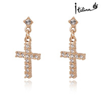 Wholesale New Arrival Cross Dangle Earrings With Swarovski Crystal Stellux K Rose Gold Plated Top Quality Gift Jewelry RG20309