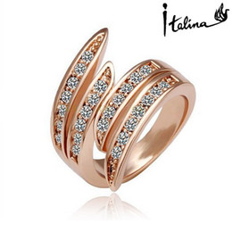 Italina R.A Genuine Austrian Rings For women 18K Rose Gold Plated With Swarovski Crystal Stellux 18K Top Quality #RA12107