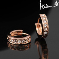 Wholesale Italina Classic Hoop Earrings With Swarovski Crystal Stellux Zirconia CZ Gift Jewelry High Quality RG81765