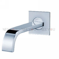 bathtub faucet spout - Square Style Wall Mounted Bathtub Spout NY93004 Brass B amp S Faucet Spout Tap