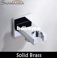 Wholesale Bathroom Accessories Products Solid Brass Chrome in Wall Mounted Hand Shower Holder Hook Pedestal Bracket