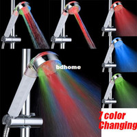 Wholesale 3 Function Color Changing Rainfall LED Shower Head Bathroom Accessories Lighting Bathroom Products Water Saving Bath Shower