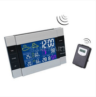 Wholesale IR Wireless Indoor Outdoor Weather Station Thermometer Hygrometer Calendar Clock Backlight