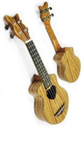 Wholesale Best Selling Soprano Zebrawood Ukulele with ukulele bag and