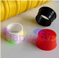 Wholesale 12pcs free ship badminton racquet tennis squash racket sealing ring badminton grip rubber badminton accessories
