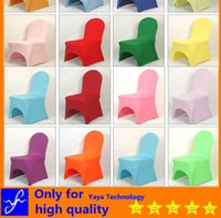 Wholesale Spandex Chair Covers Wedding Decorations Chair covers hotel cafe fast food hotel banquet colorful bar nightclub Night club seat covers GG