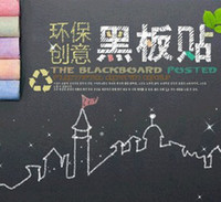 Wholesale 45x200cm Stcik On Blackboard Chalkboard Wall Paper Sticker Decor Removable
