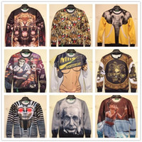 Wholesale 2014 New Fashion For Women Men Printed Sexy Funny D Hoodies Figure Pullovers Sweaters Galaxy Sweatshirts Sport Casual Clothes