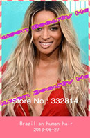 ombre lace front wig - Fast delivery Ombre b Brazilian remy human hair Glueless SIlk top front lace full lace wig large in stock Freeshipping