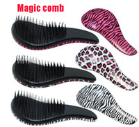 Wholesale Handle Magic Tangle Beauty Brush Shower Detangling Salon Hairbrushes Head Massage Professional Personal Care Hair Styling Combs Leopard Tool