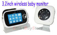 Rechargeable Battery other Nightvision 2.4GHZ 3.2 inch Digital Wireless baby monitors, MP3 function, night vision open distance of 200 meters,Free shipping