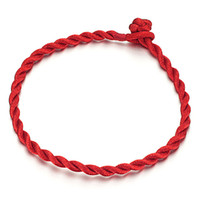 Chains China-Tibet Gift Cheap wholesale jewelry Chinese version of hand-woven rope natal ward off evil red lucky hand rope