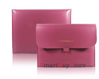 Cheap 2012 hot selling,Red Mint Elegant envelope Soft PU Leather Case Bag Pouch for Ipad 3&2 & 1,Free Shipping