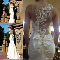 Cheap 2014 Sexy Tarik ediz Ivory Mermaid Prom dress Long Evening Dresses Prom Formal Ball Gown
