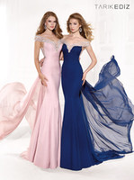 Cheap 2014 Glamorous! NEW Tarik Ediz dress collection of Tarik Ediz Spring Mermaid Satin Evening Gowns Prom Dresses Party Gown Sexy Prom Dress
