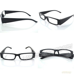 Wholesale 2pcs Black LED Presbyopic Spectacle Diopter Strength Light Up Old Men Women Reading Glasses
