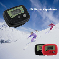 Wholesale Brand NEW LCD Pedometer With Clip Digital Electronic Pedometer Walking Distance Step Counter